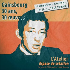 expos gainsbourg 3 ans 30 oeuvres