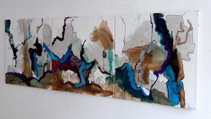 Jägersburg Tryptichon #2 100 x 210 cm