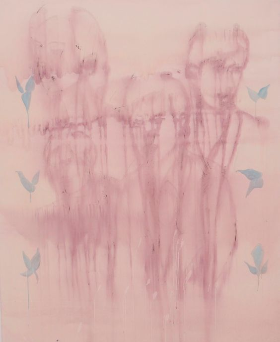 """Vorhang"" Acryl Tinte auf Leinwand, 200 X 160 cm € 10 000"