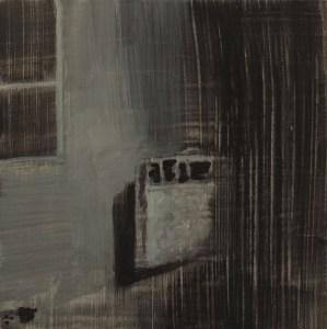 Joseph CHOÏ, Heater 3, peinture, Huile sur bois, 20 x 20 cm, 2013