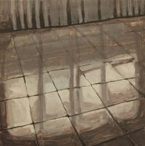 Joseph CHOÏ, Tiles, peinture, Huile sur bois, 20 x 20 cm, 2013