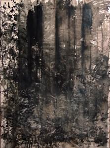 Raphaëlle Pia, Encre de chine et sépia sur papier, 76 x 57 cm - boite 83,5 x 64 cm, 2011