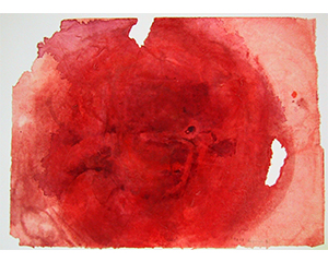 Flagrance 4, 2003. Acrylique sur papier, 23,5 cm x 32 cm.