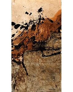 Sans titre, 2015. Technique mixte et collage sur papier, 36 cm x 20 cm.