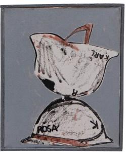 Pierre Buraglio, Rosa / Karl, 2011. Sérigraphie, 45 x 37 cm.