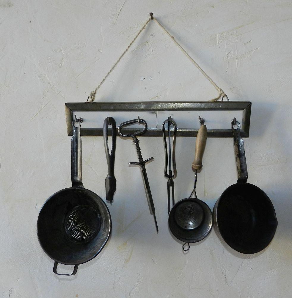 details sur ancien porte ustensiles garni belle deco cuisine 1950 60
