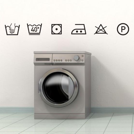 stickers symboles lavage