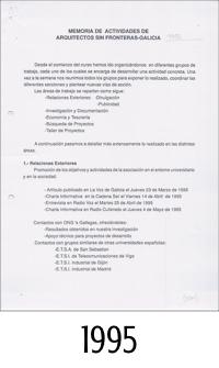 1995_ASFEG_Memoria de actividades