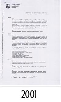 2001_ASFEG_Memoria de actividades