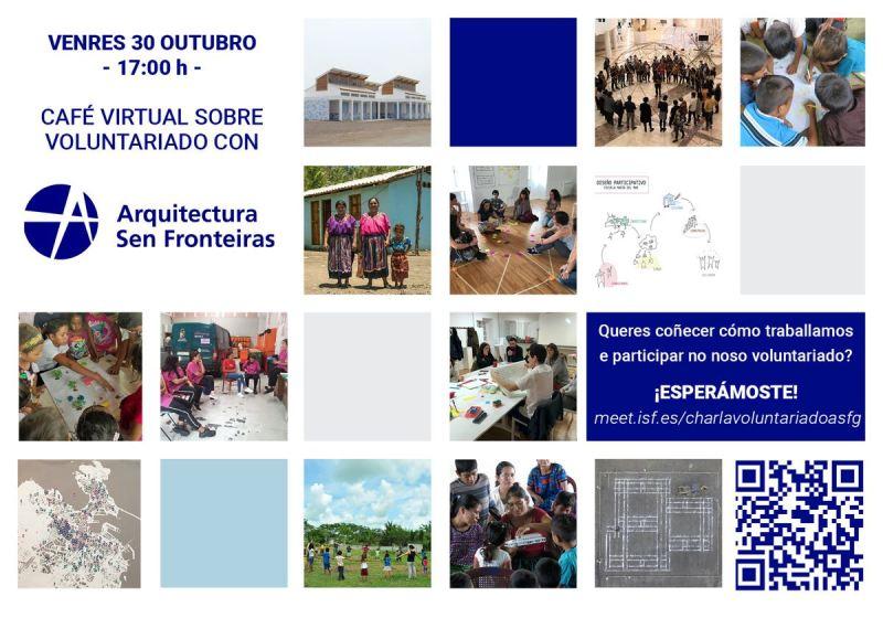 Café virtual sobre voluntariado con Arquitectura Sen Fronteiras