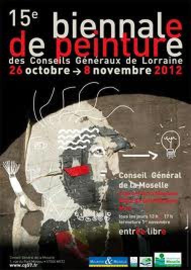 affiche biennale conseils généraux lorraine 2012