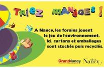 Le tri sélectif à la foire attractive de Nancy
