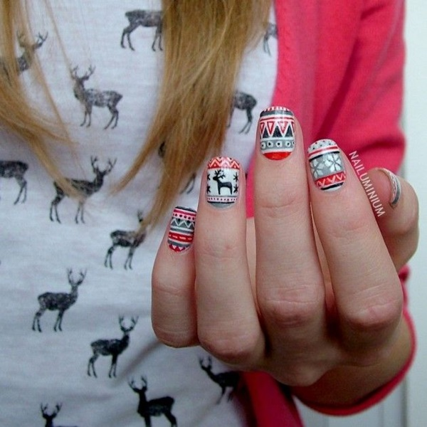 Simple Winter Nail Art Ideas For Short Nails 47
