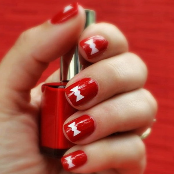 Prev Next Red Apple Polish Nail Art Design Ideas Cool Designs Easy