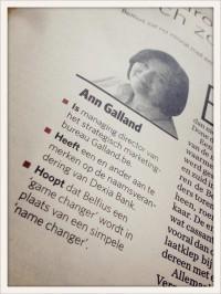 Ann Galland in de tijd