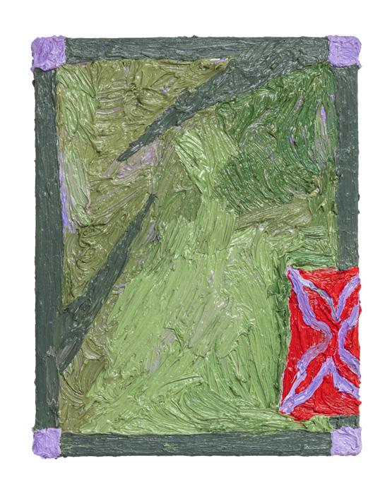 Taru Happonen, Number four 1, öljy puuvillalle, 28x35cm, 2020