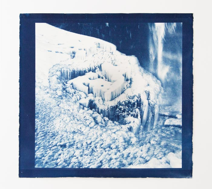 Anna Niskanen, Zelda, 2019. Cyanotype on paper, 60x60cm