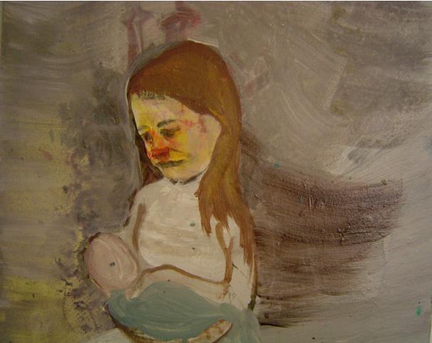 Akryyli kankaalle, 46x47, 2004