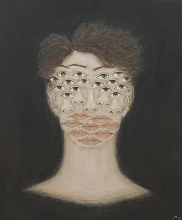 Päivi Eskelinen: Mielikuvia X, 2018, tempera kankaalle, 60 x 50 cm