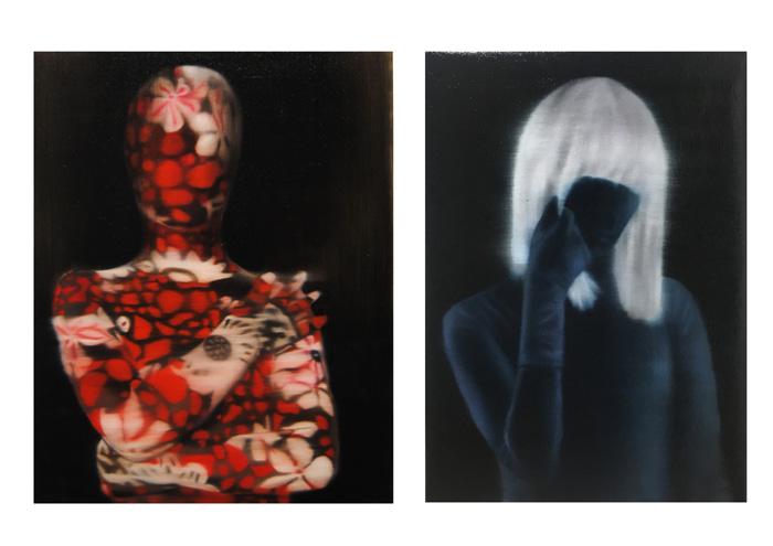 Leonor Ruiz Dubrovin: Self I, oil on canvas, 67 x 53 cm / Self II, oil on canvas,  67 x 53 cm, 2021