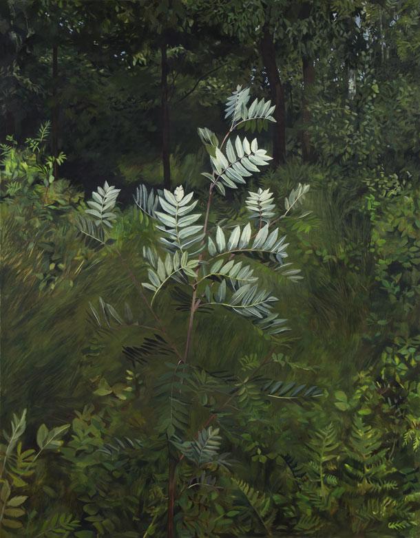 Matilda Enegren: Rönn | Pihlaja, 125x165cm, oil on canvas, 2017.