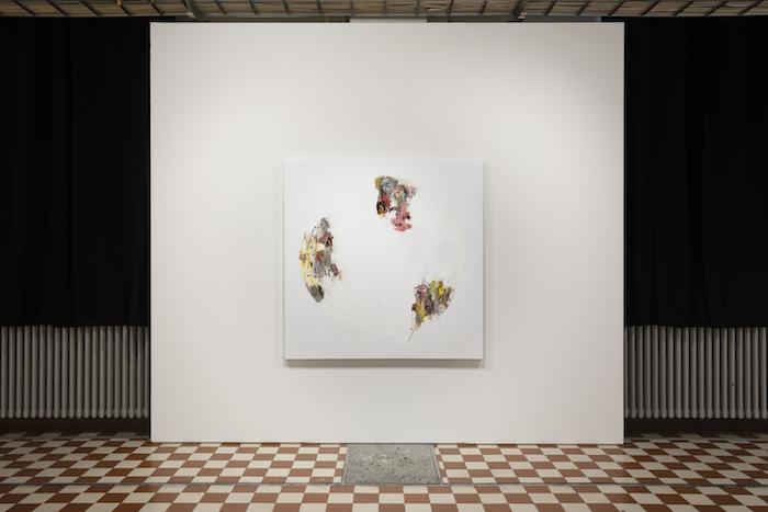 Roy Aurinko, Valkoinen peili IV, 2021, öljy kankaalle, 150 x 150 cm