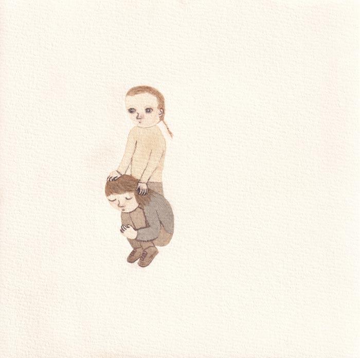 Malin Ahlsved:  The Survivor, 17x17 cm, 2019