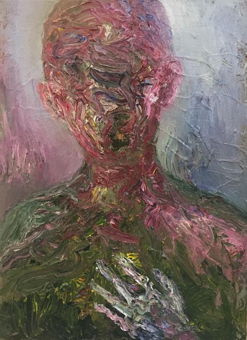 Ville Välikangas: Olen totta, 75 x 55 cm, öljyväri kankaalle, 2020