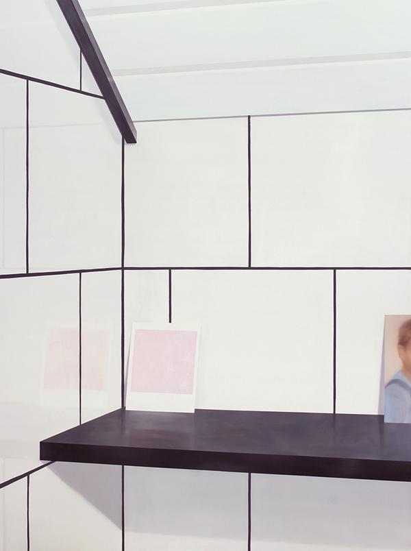 Poika kuvassa, 2015-2016, öljy MDF-levylle, 200 x 150 cm