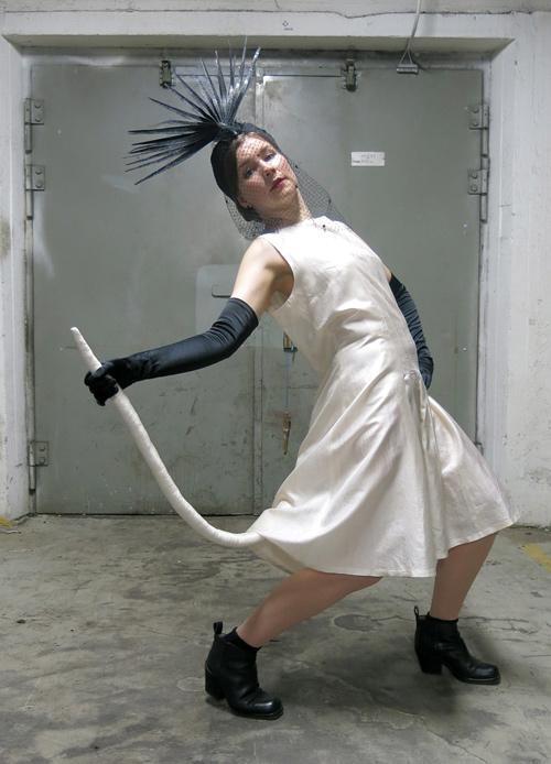Marina Cigla: Tail Dress / Mimosa Pale: Drama hat