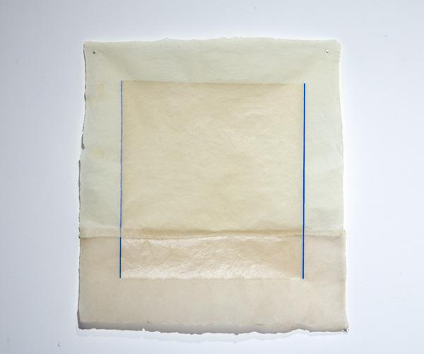 Jenni Rahkonen: Projekti / Project, 2021, serigrafia käsintehdylle paperille / screenprint on handmade paper, T.p.l'a 1/1