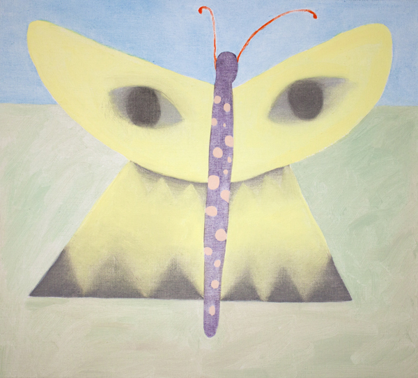 Kevätfantasia (Sitruunaperhonen), 54cm x 60cm, öljy kankaalle, 2014