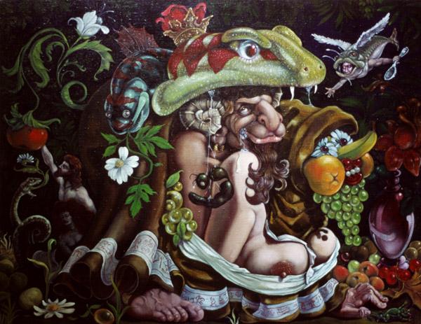 Hyvän tiedon puu, 2003, akryyli ja öljy