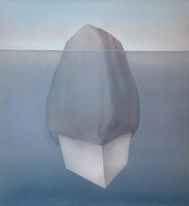 Vesa Hjort: Ocean Deep II, akryyli kankaalle, 100 x 92 cm, 2021