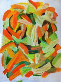 Organic Orgy - Acrylic on canvas 36 x 48