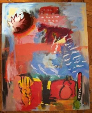 Anatolian Odyssey - Acrylic & Mixed Media on Canvas 16 x 20 inches