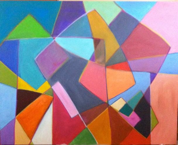 Any Which Way - Acrylic on Canvas 48 x 60 inches