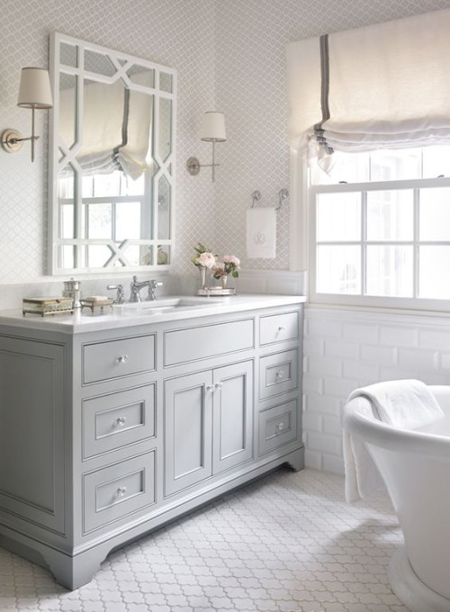 Classic grey and white bathroom. Friday's Favourites, Gallerie B blog