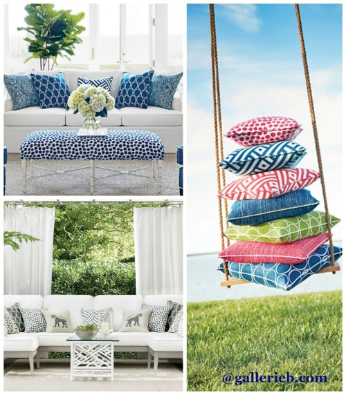 Thibaut's New Calypso Outdoor Fabric. Friday's Favourites, Gallerie B blog.