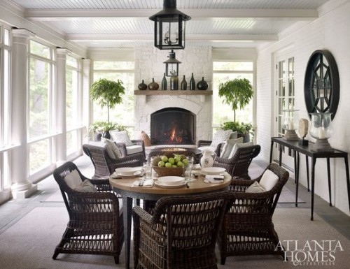 Perfect porch for entertaining. Friday's Favourites, Gallerie B blog.