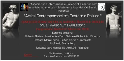 Artisti Contemporanei tra Castore e Polluce