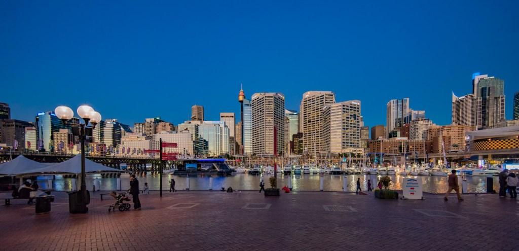 Darling Harbour Sydney Australia at Sunset