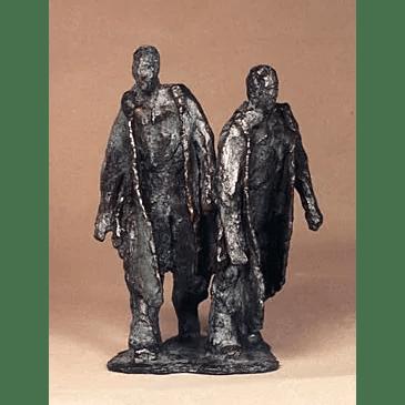Twee lopende mannen