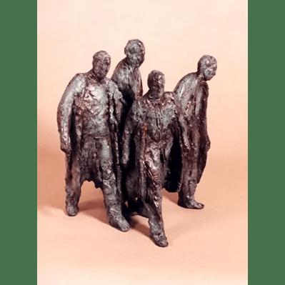 Vier lopende mannen