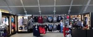 Merchandise shop at a sports stadium