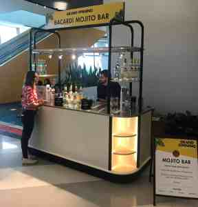 Train Station Cocktail Cart MobileCart Airports Beverage Brightline Train Station Miami Florida 1