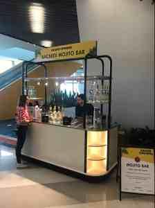 Train Station Cocktail Cart MobileCart Airports Beverage Brightline Train Station Miami Florida 2