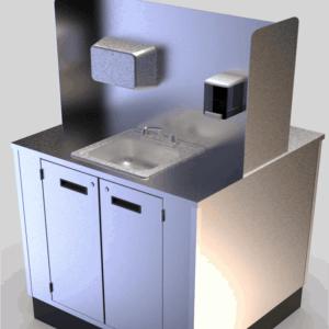 Portable Dual Sided Handwashing Sink