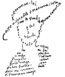 """Résultat de recherche d'images pour """"calligramme apollinaire"""""""
