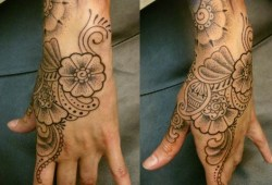 Tattoo Designs For Women's Side Hand